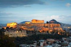 Acropolis, Athens. Acropolis as seen from Filopappou Hill, Athens royalty free stock photo
