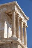 acropolis athens athena niketempel Grekland Royaltyfri Fotografi