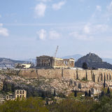 Acropolis and Athens cityscape Royalty Free Stock Photos