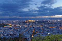 Acropolis and Athens cityscape, Greece. Parthenon, Acropolis and Athens cityscape, Greece Stock Photo