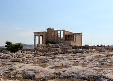 Acropolis of Athens, Erechtheion Stock Images