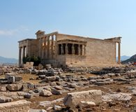 Acropolis of Athens, Erechtheion Royalty Free Stock Photos