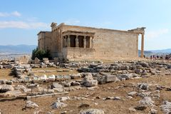 Acropolis of Athens, Erechtheion Stock Photo