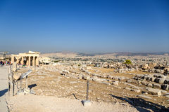 Acropolis of Athens. Erechtheion Royalty Free Stock Image