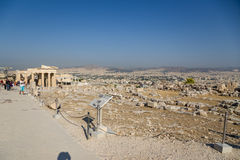 Acropolis of Athens. Erechtheion Royalty Free Stock Images