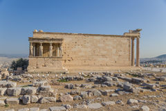 Acropolis of Athens. Erechtheion Royalty Free Stock Photo