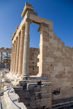 Acropolis of Athens. Erechtheion Stock Photos