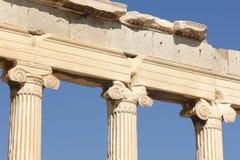 Acropolis of Athens. Erechtheion columns. Greece Royalty Free Stock Photography