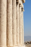 Acropolis of Athens. Erechtheion columns. Greece Royalty Free Stock Images