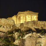 Greece, Erechtheion temple night view Stock Photo