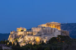 Acropolis of Athens. The famous Acropolis of Athens, the eternal symbol of democracy and civilization Stock Photography