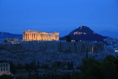 acropolis athens greece Arkivbilder