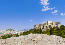 Acropolis and Athens, Greece Royalty Free Stock Photos