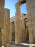 Acropolis Athens, Greece. Granite Columns at the entrance to the Acropolis in Athens, Greece Stock Images