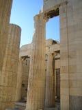 Acropolis Athens, Greece. Granite Columns at the entrance to the Acropolis in Athens, Greece Royalty Free Stock Photos