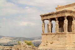 Acropolis of Athens Greece. The ancient ruins in Athens Greece. Athenia. Historic site with a view of Greece. Parthenon Royalty Free Stock Image