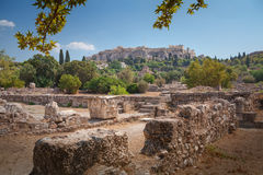 Acropolis in Athens, Greece. Antique ruins on the Acropolis in Athens, Greece Stock Images
