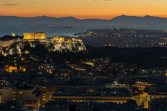 Acropolis in Athens,Greece Royalty Free Stock Images