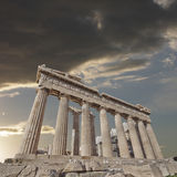 Acropolis of Athens Greece, Parthenon ancient temple Royalty Free Stock Image