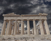Acropolis of Athens Greece, Parthenon ancient temple Royalty Free Stock Images