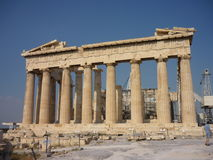 Acropolis of Athens, Greece. Ruins of the Parthenon, front royalty free stock photos