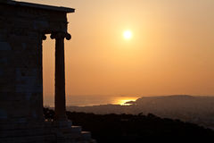 Acropolis of Athens, greece sunset sunrise Stock Photography