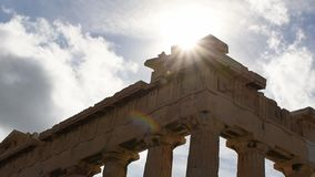 Acropolis of athens HD slow motion stock video footage