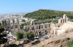 Acropolis of Athens, Odeon of Herodes Atticus Stock Photo
