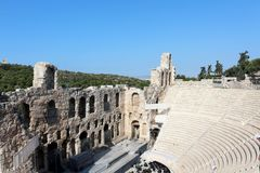 Acropolis of Athens, Odeon of Herodes Atticus Stock Photography
