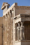 Acropolis of Athens. Older temple of Athena Polios and Erechthei Royalty Free Stock Images