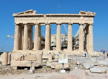 Acropolis of Athens, Parthenon Stock Images