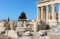 Acropolis of Athens, Parthenon Royalty Free Stock Photo