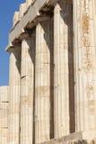 Acropolis of Athens. Parthenon columns. Greece Stock Photos