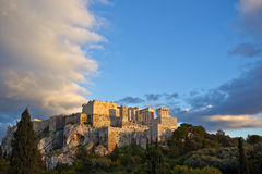 The Acropolis of Athens. Parthenon temple on a bright day. Acropolis in Athens, Greece Royalty Free Stock Images