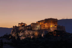 Acropolis of Athens at sunrise Royalty Free Stock Image