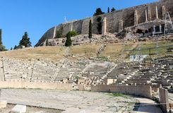 Acropolis of Athens,Theatre of Dionysus Stock Photos