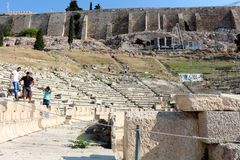 Acropolis of Athens,Theatre of Dionysus Stock Image