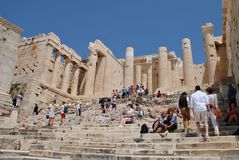 The Acropolis of Athens Royalty Free Stock Photography