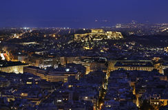 Acropolis of Athens town. Greece Royalty Free Stock Image