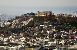Acropolis of Athens town. Greece Stock Image