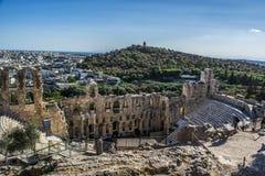 Acropolis. Athens view from acropolis 2016 Royalty Free Stock Photo
