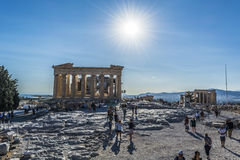 Acropolis. Athens view from acropolis 2016 Stock Images