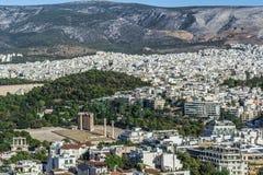 Acropolis. Athens view from acropolis 2016 Stock Photos