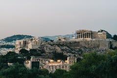 Acropolis of Athens. View of The Acropolis of Athens Royalty Free Stock Photos