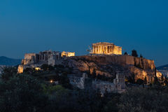 Acropolis of Athens. View of The Acropolis of Athens Stock Photography
