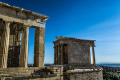Acropolis. Of Athens, The word  comes from the Greek words ἄκρον akron, `highest point, extremity` and πόλις polis, `city Royalty Free Stock Photo