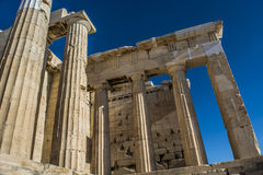 Acropolis. Of Athens, The word  comes from the Greek words ἄκρον akron, `highest point, extremity` and πόλις polis, `city Royalty Free Stock Photography
