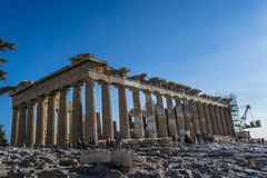 Acropolis. Of Athens, The word  comes from the Greek words ἄκρον akron, `highest point, extremity` and πόλις polis, `city Stock Photography