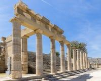 Acropolis av Lindos Arkivfoto