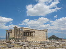 Acropolis with Blue Sky and Clouds, Athens, Grece Royalty Free Stock Photo